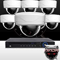 Ninja 4 Megapixel IP Dome Camera 8 CH Kit (White)