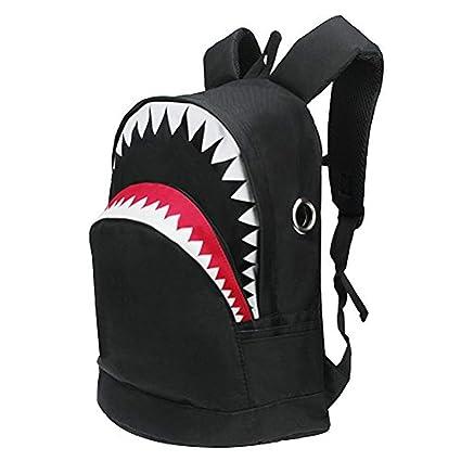 Amazon.com: HOT Backpacks 3D Shark Canvas Bag for Girls Boys ...