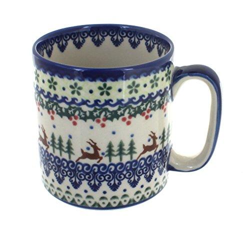 - Blue Rose Polish Pottery Reindeer Delight Coffee Mug