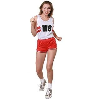 118 Running Costume Fancy Dress Womens Set Tutu Skirt Long Socks Vest Top Set
