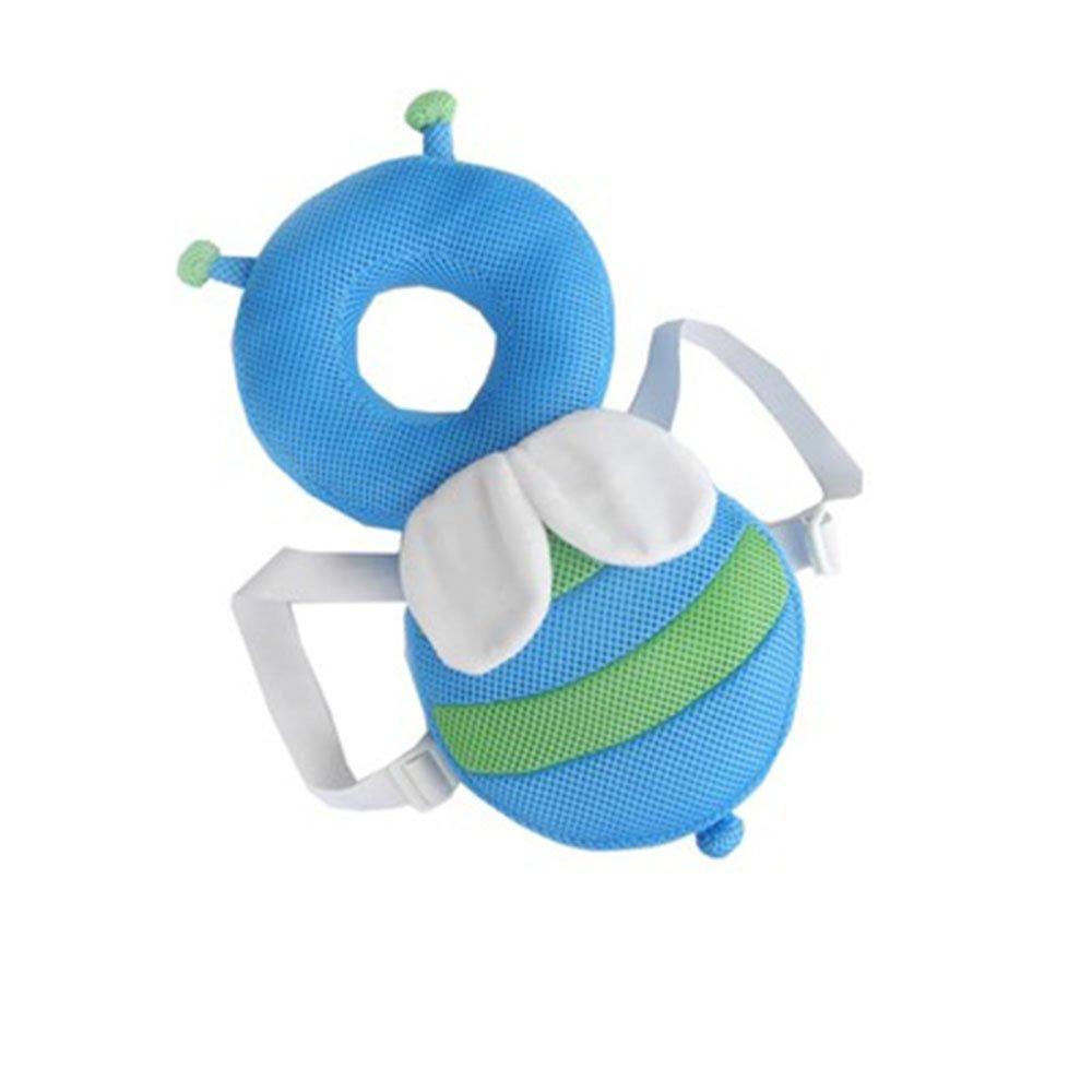 Ndier Cojí n de Protecció n Cabeza, Cojí n de bebé , Protecció n Almohada Reposacabezas Ajustable para Proteger la Cabeza Cuello y Columna andadores (Abeja Azul) Cojín de bebé