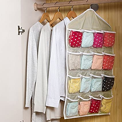 cofco Crazy tienda 16 bolsillos claros para encima de la puerta bolsas de almacenamiento para colgar