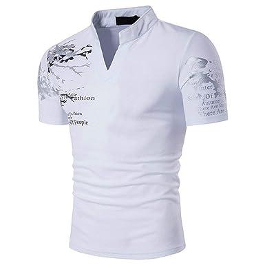 Polo De Los Hombres Polo Casual Stand Collar De Polo Slim Fit ...