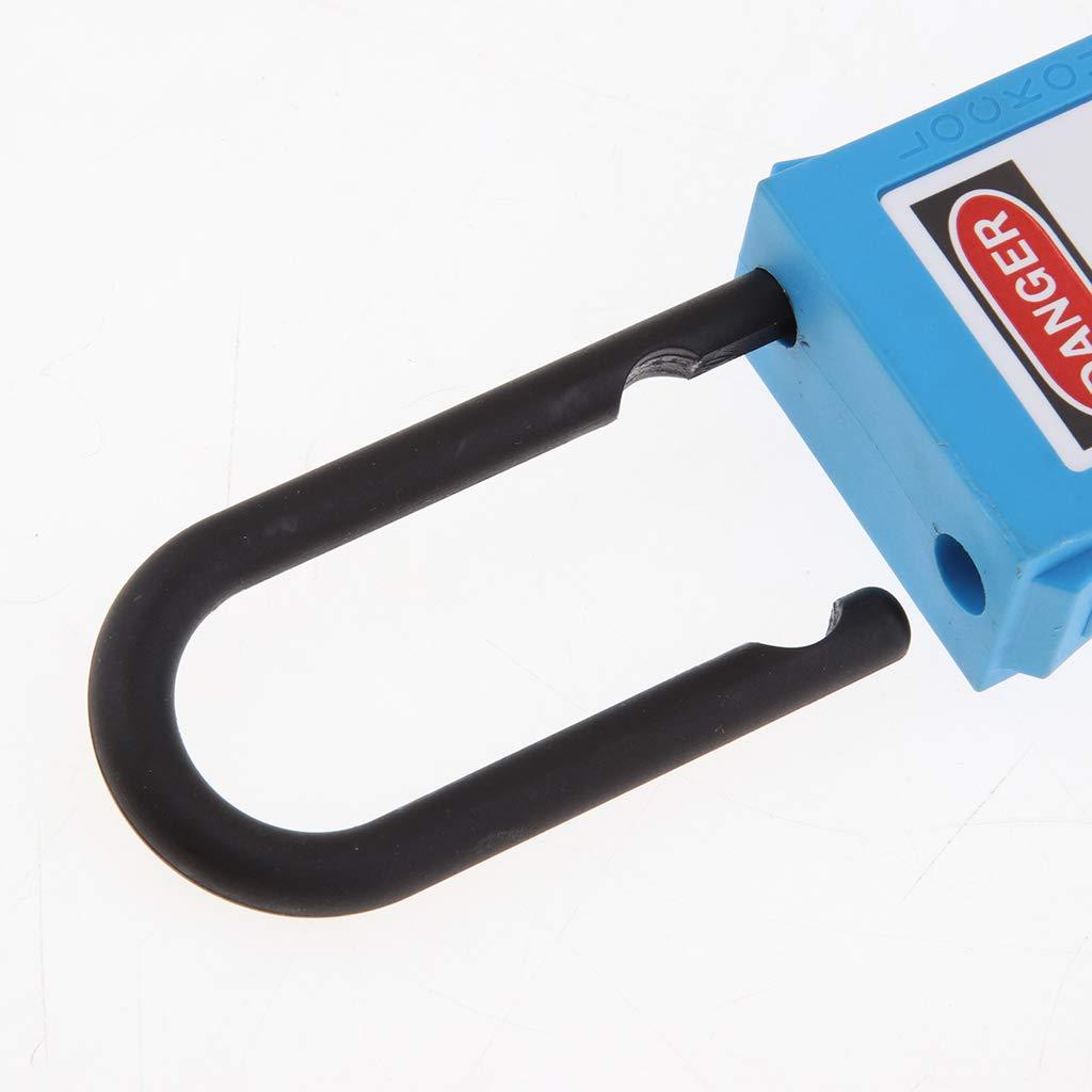 Amarillo 38mm Cerradura de Llave para Bicicletas Garaje Gimnasio Taquillas 2 llaves PL 38-KD B Blesiya Candados de Llave Impermeable con Etiqueta de Escritura