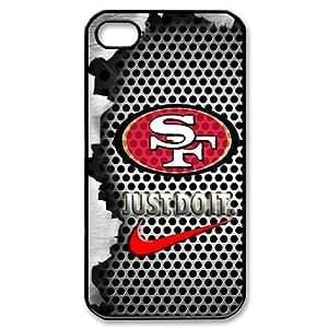 NFL San Francisco 49ers Logo Iphone 4/4S Case Nike Logo Case Cover-black&white