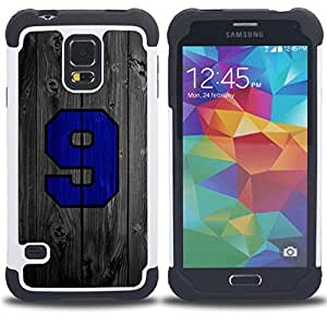 BullDog Case - FOR/Samsung Galaxy S5 I9600 G9009 G9008V / - / 9 Wood Sports Team /- H??brido Heavy Duty caja del tel??fono protector din??mico - silicona suave