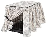 Crate Covers and More Central Park Toile with Black Cording Gathered Tieback, Medium