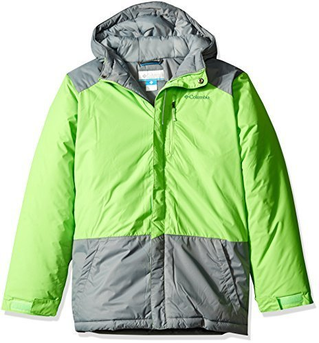 d7f12f4e2 Galleon - Columbia Boys Lightning Lift Jacket - Green Mamba - 4T
