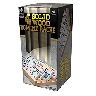 Solid Wood Domino Racks - 4 Pack
