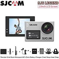 SJCAM SJ6 Legend 2 inches Touch Screen Remote Action Helmet Sports DV Camera Waterproof 4K HD1080P 24FPS Action Camera, Silver