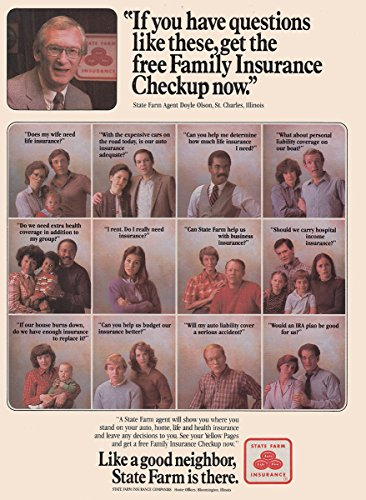 1983 State Farm Insurance  If You Have Questions Like These  State Farm Insurance Print Ad