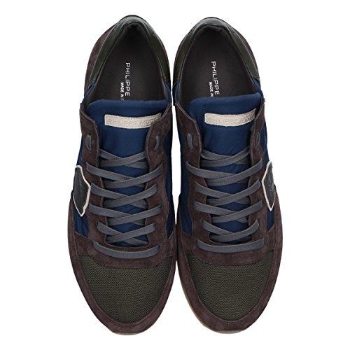 Philippe Model Mannen Trluw036 Bruin Suède Sneakers