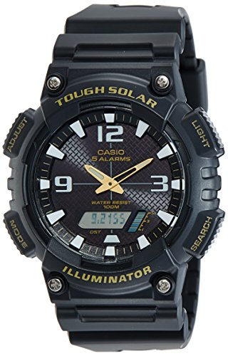 Casio Black Casual Sport Watch - Casio Sports Black Watch AQS810W-1B