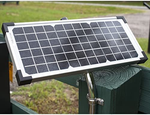 GHOST CONTROLS AXDP Premium 10 Watt Monocrystalline Solar Panel for Automatic Gate Opener Systems