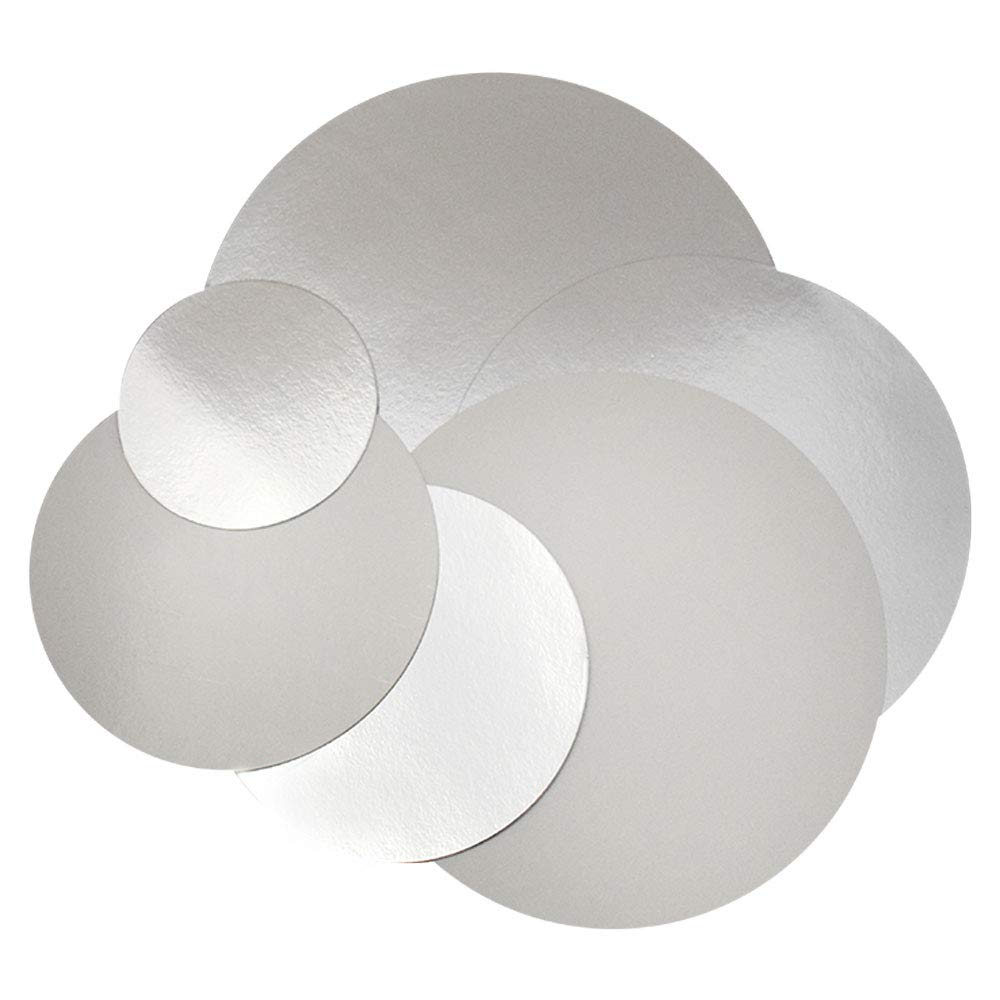12 ct 12 Silver Round Cakeboard 2 mm Thick