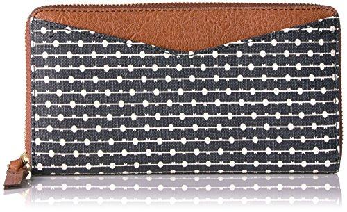 Caroline RFID Zip Around Wallet Black Stripe Wallet, Black Stripe, One Size Stripe Zip Around Wallet