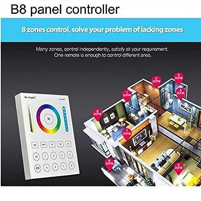 B8 panel controller, United States : Mi Light LED Outdoor Floodlights 10W 20W 30W 50W Spotlight RGB CCT WIFI RF Remote RGBW waterproof LED outdoor lighting AC86-265V