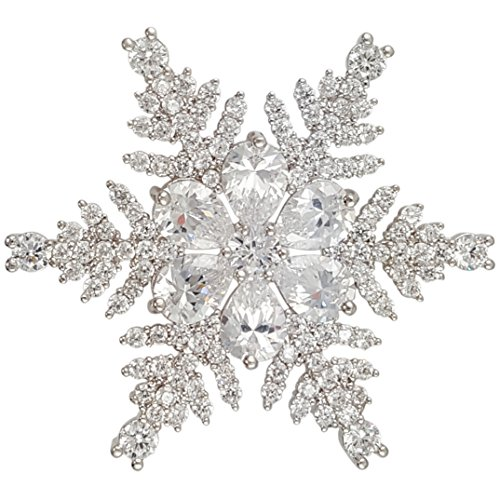 (CHRISTMAS CRYSTAL SNOWFLAKE BROOCH PIN MADE WITH SWAROVSKI ELEMENTS (Brooch))