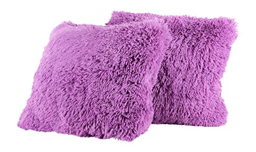 Sweet Home Collection Plush Pillow Faux Fur Soft and Comfy Throw Pillow