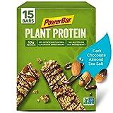 PowerBar, Plant Protein Bar, Dark Chocolate Almond & Sea Salt, 1.76 oz Bar, (15 Count)