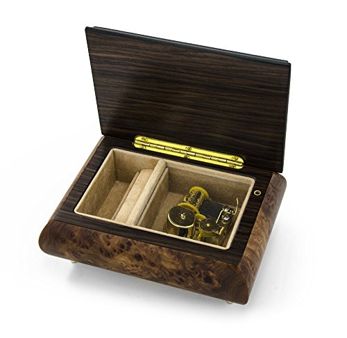 Handcrafted 30 Note Classic Style Music Box With Framed Border Inlay - I was Born to Love You by MusicBoxAttic (Image #2)