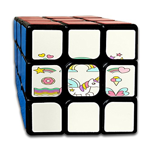 Unicorn Horse Non-toxic Durable Lightweight Turning Safety Puzzle Gift Cube Magic Cube 3x3x3 For Men&women Pre-Kindergarten
