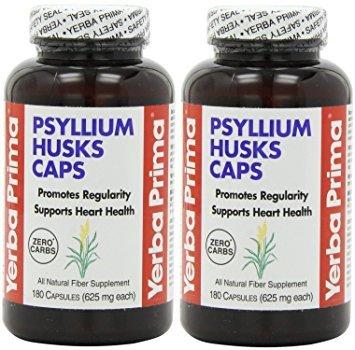 Yerba Prima Psyllium Husks , 625 Mg, 180 Capsules (180 x ()