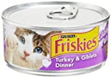Friskies Cat Food Classic Pate, Turkey and Giblets Dinner, 5.5-Ounce Cans (Pack of 24), My Pet Supplies