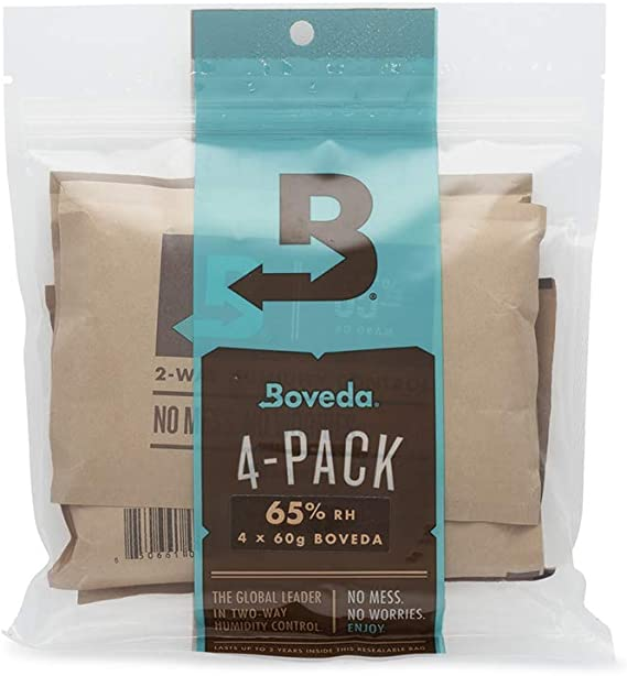 Boveda BV62187 67g 62 Percent RH Long Lasting 2 Way Herbal Humidity Control Packs Protecting Up to 1 Pound 100 Pack