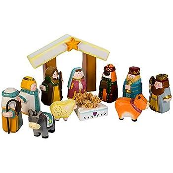 Kurt Adler 10 5 Inch Hand Carved Child S 1st Nativity Set