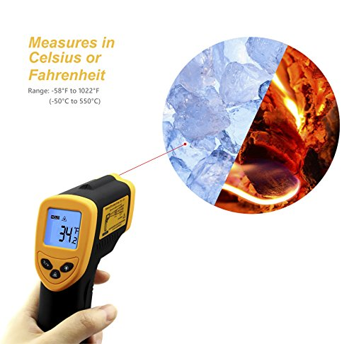 Etekcity-Lasergrip-1080-Non-contact-Digital-Laser-Infrared-Thermometer-Yellow-and-Black