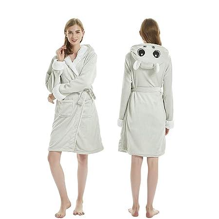ETERNALLOVE Robe de cámara de Unicornio, Franela para Mujer ...