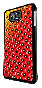 691 - Summery Strawberry PatternDesign For Samsung Galaxy Alpha Fashion Trend CASE Back COVER Plastic&Thin Metal