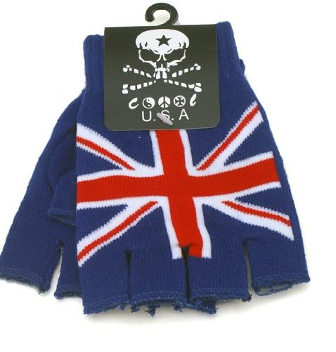 UK British Flag Design Knitted Fingerless (Union Jack Design)