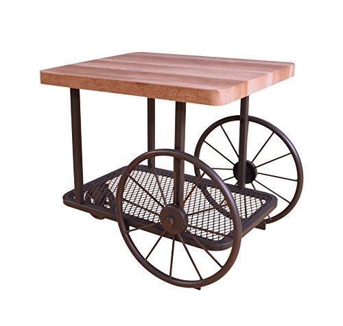 Acme Furniture Acme 82862 Francie End Table, Oak & Antique Gray, One Size
