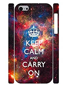 Personalized Theme Smart Phone Case With Keep Calm And Crown And Red Galaxy Designed Hard Plastic Case Cover for Iphone 5c