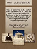 State of California , Petitioner, V. the United States of America. U. S., Robert W. Kenny, 127038659X