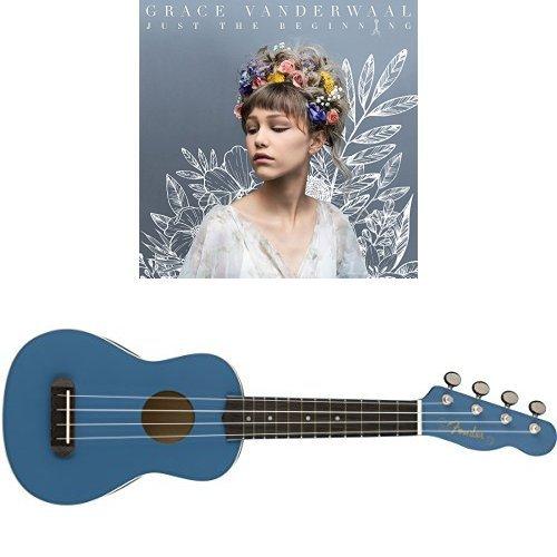 "Grace VanderWaal ""Just the Beginning"" and Fender Venice Soprano Natural Ukulele Bundle – Lake Placid Blue Finish - Lake Placid Blue Finish"