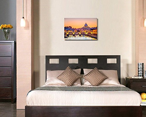 Saint Peter Cathedral at Night Rome Home Deoration Wall Decor