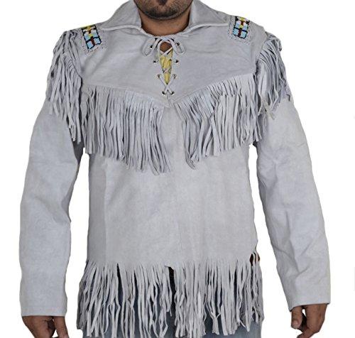 Leather Fringed Shirt Jacket - 8