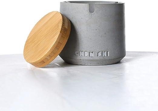 Smog Y Colector De Polvo Hormig/ón Utensilios American Industrial Viento Accesorios ZPSPZ Cenicero Cenicero De Concreto