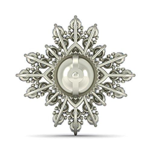 18K Or Blanc 1.12CT TW Round-cut-diamond (IJ | SI) Boucles d'oreille à tige