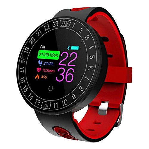 Rastreador de fitness, szhaiyu Monitor de frecuencia cardíaca rastreador Bluetooth Rastreador de actividad Podómetro con...