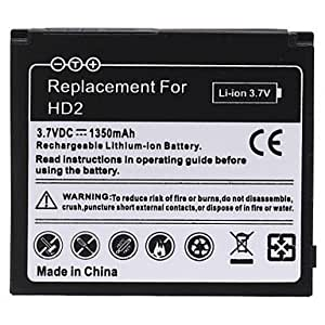 1350mAH Rechargeable Replace Li-ion Battery for HTC HD2