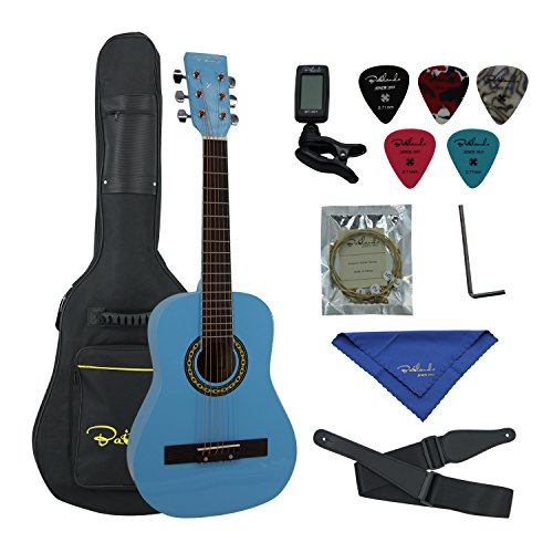 Bailando 30 Inch Starter Acoustic Beginner Guitar with Carrying Bag & Accessories, Blue - Image 7