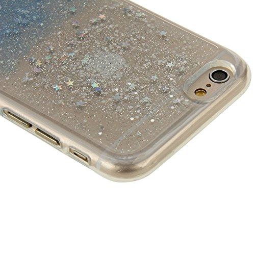 Phone Taschen & Schalen Für IPhone 6 Plus / 6S Plus, zweifarbige Star Sequins Flash Powder Serie TPU Schutzhülle ( Color : Blue )