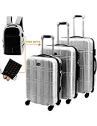 Luggage 3 Piece Set Suitcase Sets Scratch-resistant Surface Hardside Spinner Luggage Sets