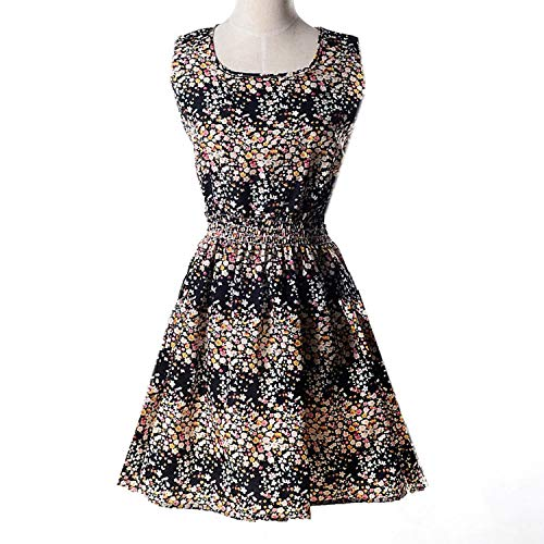 - Woman Beach Boho Clothes Party Dress Short Sundress Plus Size Floral Dress,17 BlackSmall Floral,XXL