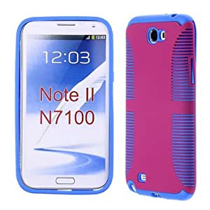 For Samsung Galaxy Note 2 I317 Hot Pink Blue Az0525 Mesh Cover Silicone Rubber Skin Case