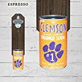 Wall Mounted Bottle Opener with Vintage Clemson University Tigers Orange Soda Can Cap Catcher Review